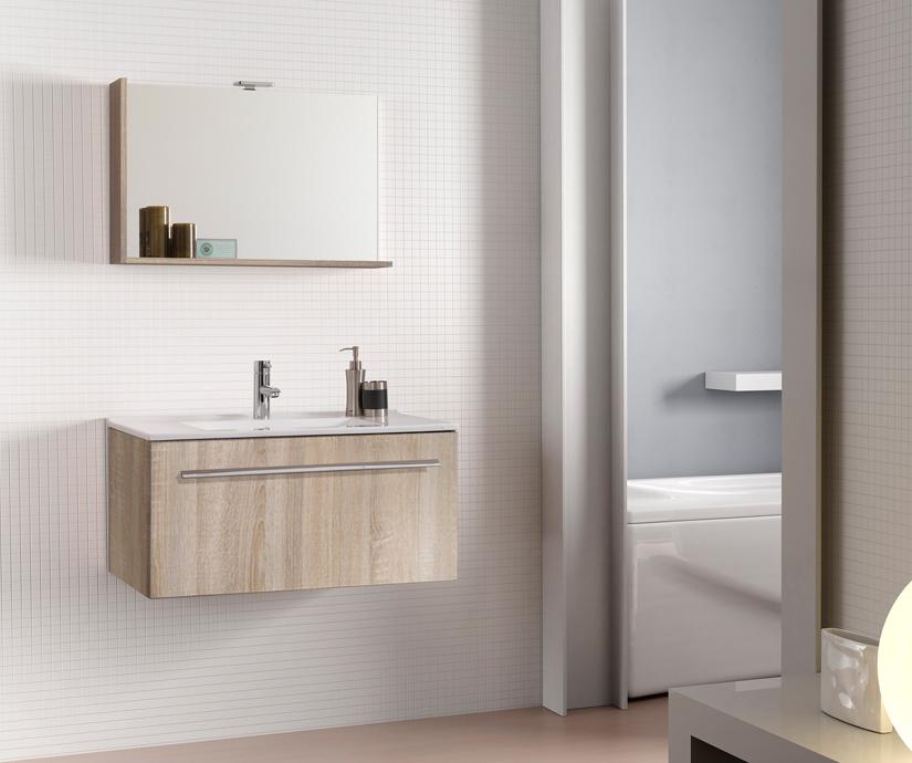 Mobile da bagno moderno sospeso Perla da cm 80 Savini arredo bagno