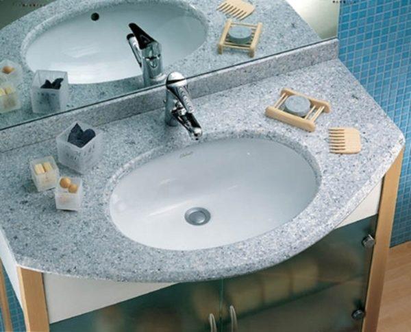 Vasca Da Bagno Incasso Sottopiano : Lavabo incasso agordo sottopiano ceramica dolomite 58x42 bianco