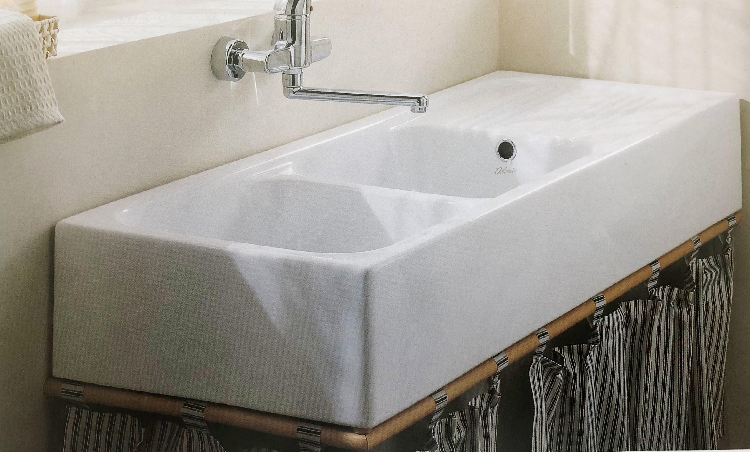 Lavello In Ceramica Da Cucina lavello cucina 120x45 da appoggio mod.brasile art.j072900 ceramica dolomite  in stock di magazzino