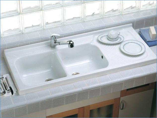 Ceramica Dolomite Lavello Cucina Arno 120x50 Gocciol Sx J067400 Ceramiche De Paola